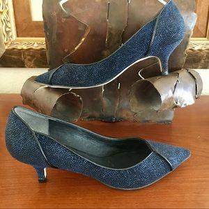 Adrianna Papell Lydia Manta Leather Pump Heel EUC!